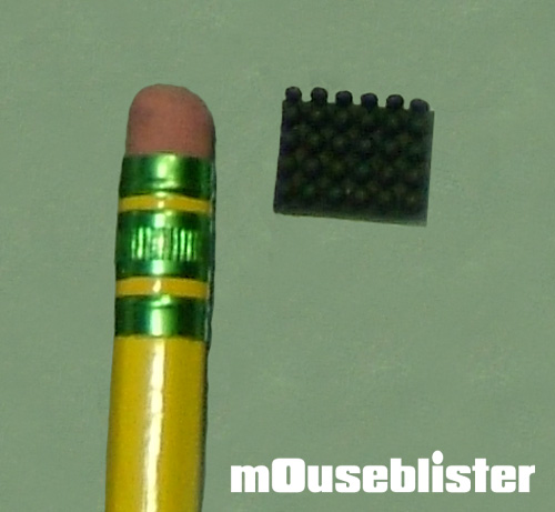 a mouseblister compared to a single pencil head